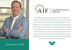 Jim Abbott Awarded AIF Designation