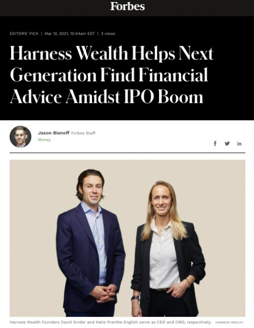 Claro Advisors in Forbes: Harness Wealth - Helping Next Generation Find Financial Advice Amidst IPO Boom