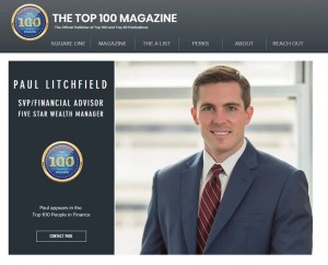 Paul Litchfield Named Top 100 People in Finance Magazine